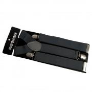Bretele barbati uni, negru - bleumarin elegant