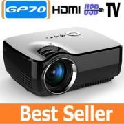 Updated HD 1080p Projector Vivibright LED Projector for Home cinema Mini Portable Projector full HD 3D HDMI VGA USB TV SD LED Projector 800x600 Pixels (SVGA)