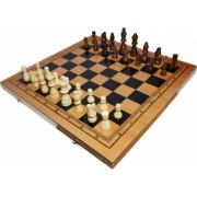 Joc 3 1 - Sah table dame Cutie lemn 40x19cm