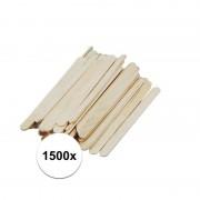 Geen 1500 stuks houten knutsel stokjes 5,5 cm