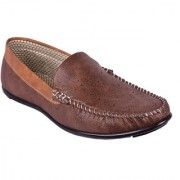 BB LAA Brown Men's Slip-on Loafers Shoes
