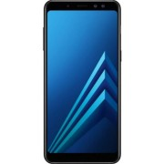 "Telefon mobil Samsung Galaxy A8 (2018), Procesor Octa-Core 1.6GHz/2.2GHz, Super AMOLED 5.6"", 4GB RAM, 32GB Flash, 16MP, Wi-Fi, 4G, Dual Sim, Android (Negru)"