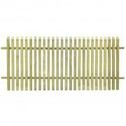 vidaXL Gard pentru grădină, lemn de pin tratat FSC, 170 x 75 cm