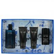 Davidoff Cool Water EDT Spray 4.2oz/124.2mL + Balm 2.5oz/73.93mL + Body Gel 2.5oz/73.93mL + Deodorant 2.4oz/70.97mL Gift 454204