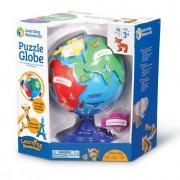 Puzzle interactiv Glob pamantesc copii