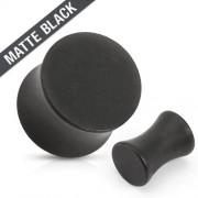 Mat Zwart Stalen Plug-8 mm