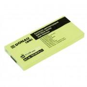Öntapadó jegyzettömb, 38x51mm, 3x100 lap, DONAU \ECO\, sárga [300 lap]