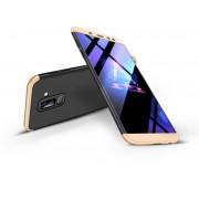 Samsung A605 Galaxy A6 Plus (2018) hátlap - GKK 360 Full Protection 3in1 - fekete/arany
