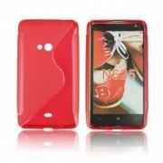 Силиконов гръб ТПУ S-Line за Nokia Lumia 625 Червен
