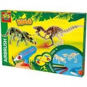 Детски креативен комплект с четка за оцветяване с въздух, SES, 080628