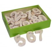 Skillofun Wooden Number 123 Cutout Block(0-9), Multi Color
