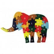 Fa puzzle elefánt