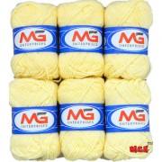 M.G Cream Pack of 6 Balls hand knitting Acrylic yarn wool balls thread for Art & craft Crochet and needle