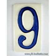 Numero civico ceramica piccolo nc309