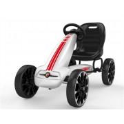 ODG Go Kart Abarth Rosso O Bianco Macchina Per Bambini A Pedali Freno E Frizione Bianco