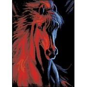 [ New Release, Wooden Framed or Not ] Diy Oil Painting by Numbers, Paint by Number Kits - Fire and Ice Horse 16*20 inches - PBN Kit for Adults Girls Kids Christmas - D116