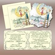 Invitatie de nunta magnetica fantezie