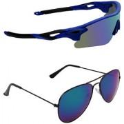 Zyaden Combo of 2 Sunglasses Sport and Aviator Sunglasses- COMBO 2796