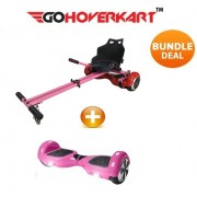 "Hoverkart and 6.5"" Hoverboard California Pink Bundle (GoDrifter)"