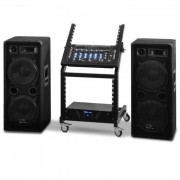 Electronic-Star Serie Mars Flash Set Rack Star DJ PA - 400 personas (PL-Mars)