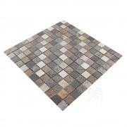 Mozaic Ardezie Multicolora Flexibila SKIN 2 x 2 cm