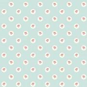 Tapet Shabby Chic Alice Trandafiri Rosii - Tiffany Bleu