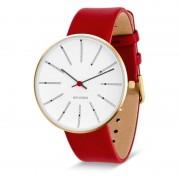Arne Jacobsen Clocks Armbandsur Bankers Vit/guld/röd 40 mm Arne Jacobsen Clocks