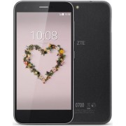 "Telefon Mobil ZTE Blade A512, Procesor Quad-Core 1,4GHz, LCD IPS capacitive touchscreen 5.2"", 2GB RAM, 16GB Flash, 13MP, Wi-Fi, 4G, Dual Sim, Android (Negru) + Cartela SIM Orange PrePay, 6 euro credit, 6 GB internet 4G, 2,000 minute nationale si internati"