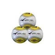Bola Futsal Vitoria Oficial Termotec Pu Max 500 kit com 3