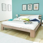 vidaXL Double Bed 5FT King Size/200x150 cm Pinewood Natural