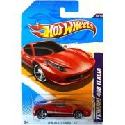 2012 Hot Wheels HW All Stars Ferrari 458 Italia Red #130/247