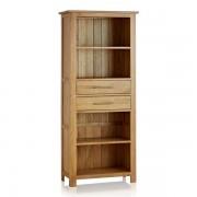 Oak Furnitureland Natural Solid Oak Bookcases - Tall Bookcase - Rivermead Range - Oak Furnitureland