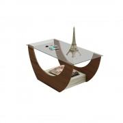 Bertolini mesa de centro onda bertolini imbuía con capuccino