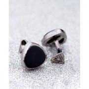 Dare by Voylla Milestone Black Rhodium Black Stone Cufflinks