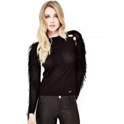 Guess Trui Met Details In Tule - Zwart - Size: Medium