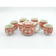 Set ceai Ming - Flori rosii (cod B11-3)