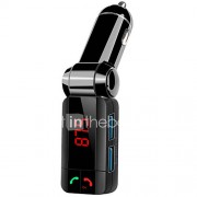 bluetooth handsfree carkit Bluetooth 3.0, FM-zender, Dual USB auto-oplader, mp3-speler