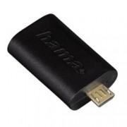 Адаптер Hama от USB Micro B(м) към USB 2.0 A(ж) към , черен