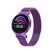 LEMONDA MC11 1.04-inch IPS Round Screen Smart Bracelet Crystal Sport Watch Female Physiological Cycle Monitor - Purple