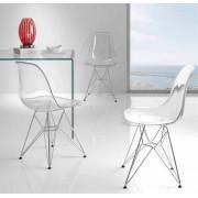 items-france BOSTON - Lot de 4 chaises design 56x47x81,5/45cm