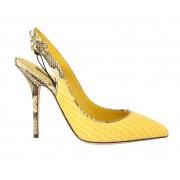Dolce & Gabbana magassarkú cipő sárga