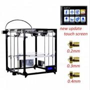 FLSUN cubo impresora 3D kit de bricolaje pantalla tactil auto nivelacion impresion tamano 260X260X350-UA