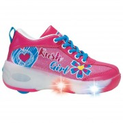 Zapatillas con luces y rueda Rush Girl Talla 34-Rosado