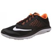 Nike Men's Black,White and Total Orange Running Shoes -8 UK/India (42.5 EU)(9 US)