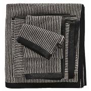 Marc O'Polo Timeless Tone Stripe Night & Oatmeal-Handdoek (50 x 100 cm)