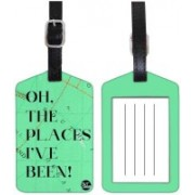 Nutcaseshop PLACE I HAVE BEEN - GREEN Luggage Tag(Multicolor)