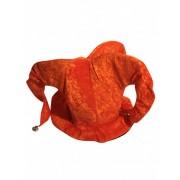 Chapéu de bobo cor de laranja
