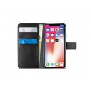 Puro Do Iphone X/xs Booklet Wallet Case Z Kieszeniami Na Karty + Stand Up (Czarny)