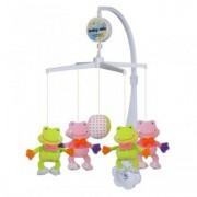 Carusel Muzical Pentru Patut Calm Baby - Pretty Frogs