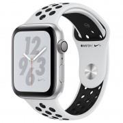 Apple Watch Nike+ Series 4 GPS 44mm Alumínio Prateado com Bracelete Desportiva Nike Platina Pura/Preta